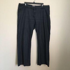 Worthington Dark Blue Denim Trousers 16W